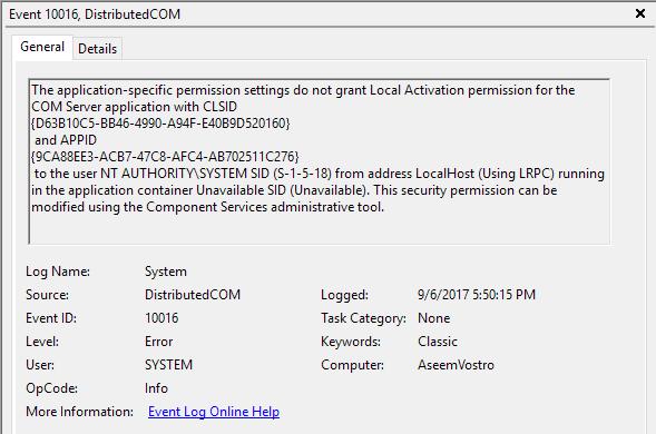 Fix 10016 hiba a Windows Eseménynaplóban